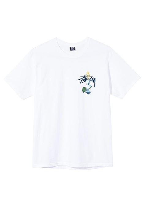 Stussy t-shirt psychedelic uomo STUSSY | T-shirt | 1904663WHITE