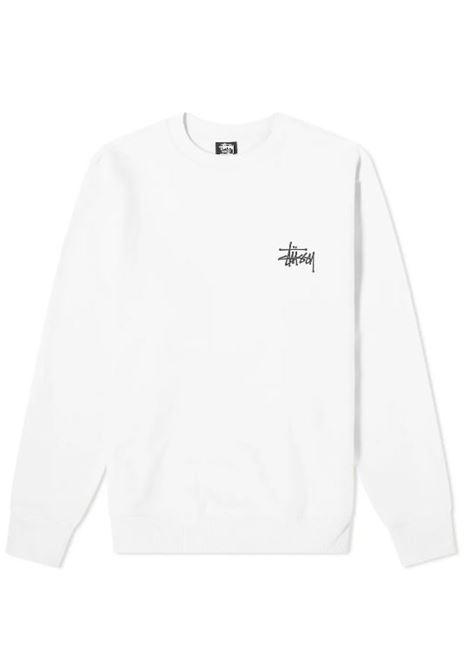 LOGO SWEATSHIRT STUSSY | Sweatshirts | 1914649WHITE