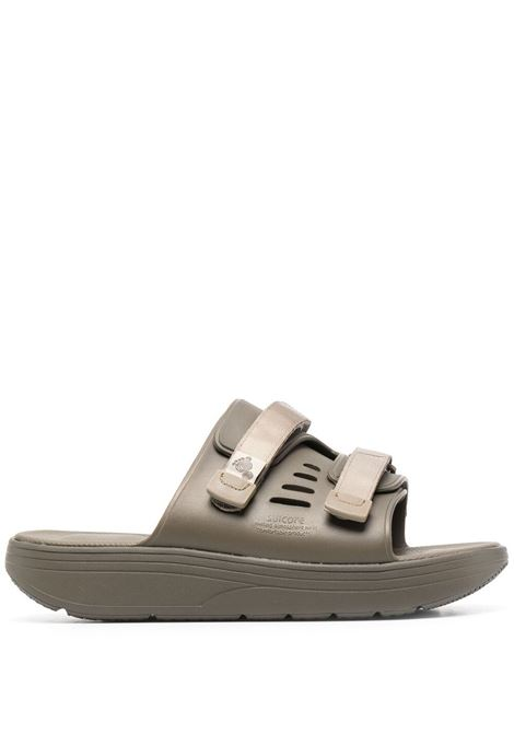 Suicoke touch strap flat sandals man green SUICOKE | Sandals | OG-INJ-01115