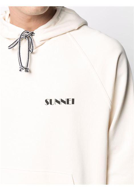 Sunnei felpa con logo uomo beige SUNNEI | Felpe | SN1SMF01AP - JE076.064CREM