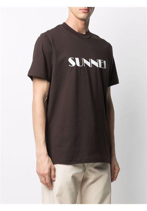 Sunnei t-shirt con logo uomo marrone SUNNEI | T-shirt | SN1SMH01BP - TE187.988BROWN
