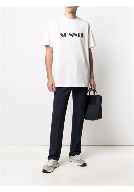 Sunnei logo t-shirt man white SUNNEI | T-shirts | SN1SMH01BP - TE187.988WHITE