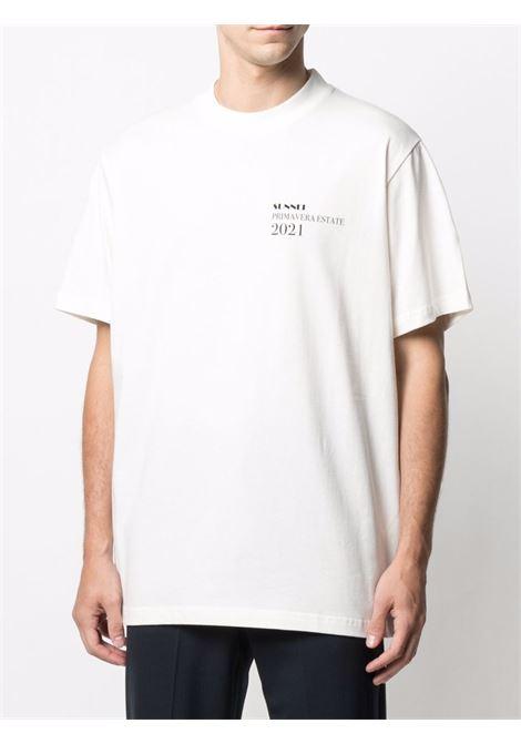 Sunnei logo t-shirt man white SUNNEI | T-shirts | SN1SMH01P - TE187.064WHITE