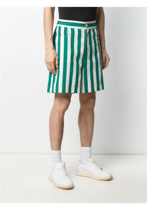 Sunnei striped knee lenght bermuda shorts SUNNEI | Shorts | SN1SMT12AP - TR079.R23OWHITESTRIPE