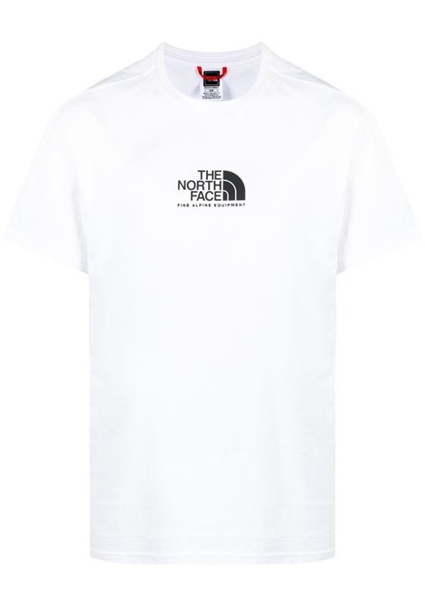The North Face t-shirt con logo stampata uomo bianco THE NORTH FACE | T-shirt | NF0A4SZULA91