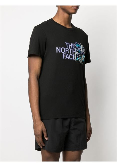 The North Face t-shirt con logo stampato uomo nero THE NORTH FACE | T-shirt | NF0A557LJK31