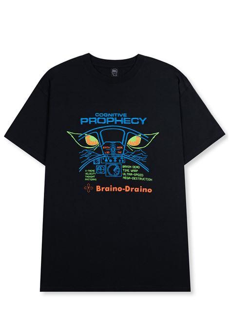 Brain dead bd cognitive prophecy t-shirt man BRAIN DEAD | T-shirts | P21T00001621WASHED BLACK