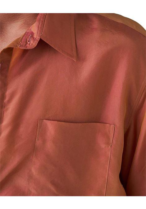 Grifoni camicia regolare cangiante uomo arancio GRIFONI | Camicie | GI120022/101900