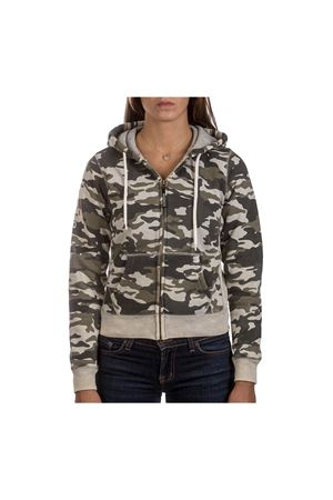 PODHIO FELPA AUTHENTIC 360 DONNA SNOW WASHED CON ZIP E CAPPUCCIO PODHIO | -108764232 | PD006D300