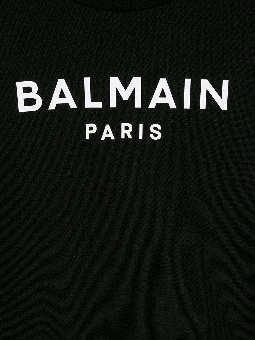 felpa con manica particolare logata Balmain | Felpa | 6N4030NX320930BC