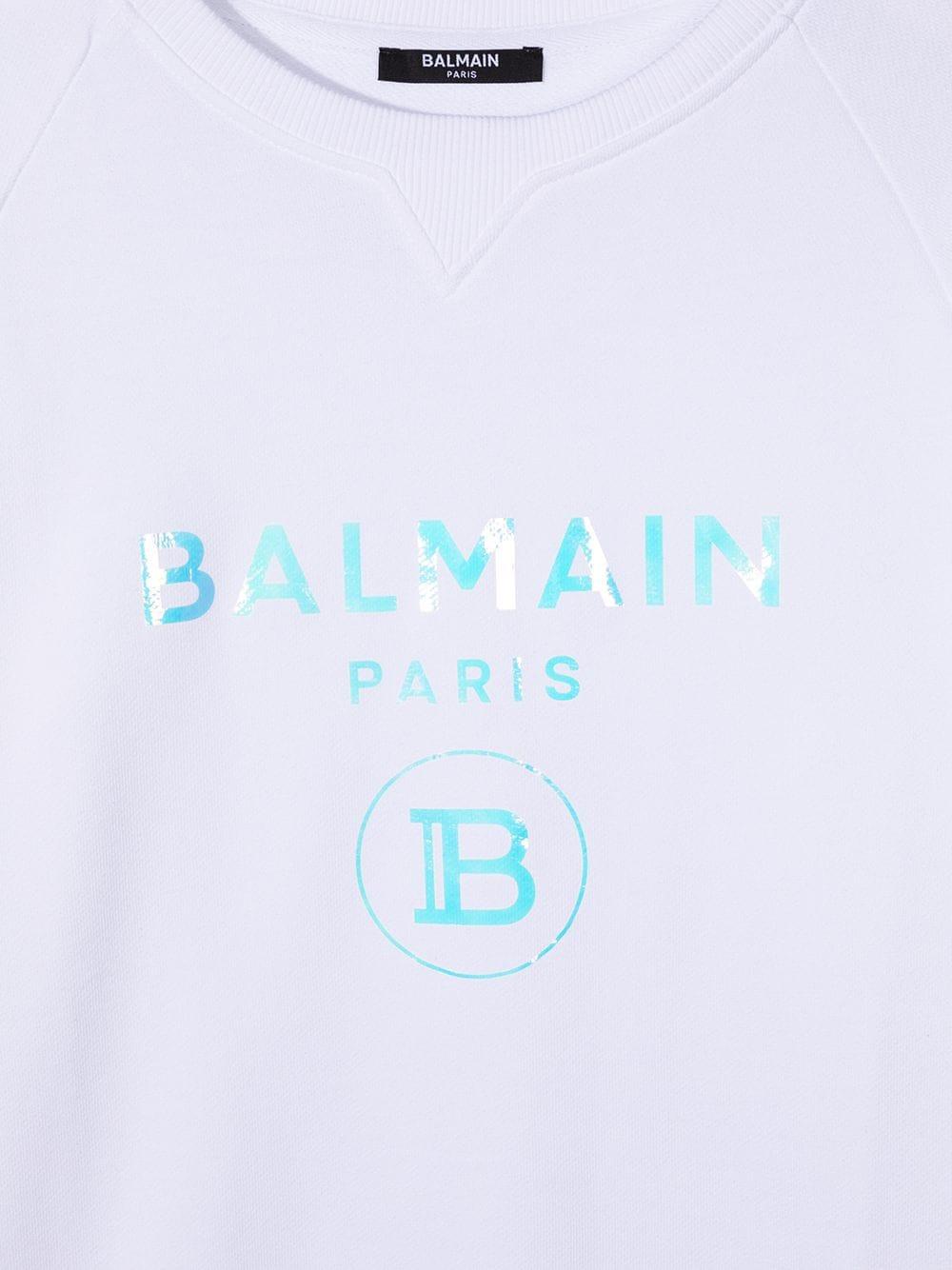 felpa  logo laminato Balmain | Felpa | 6N4530NX280100T