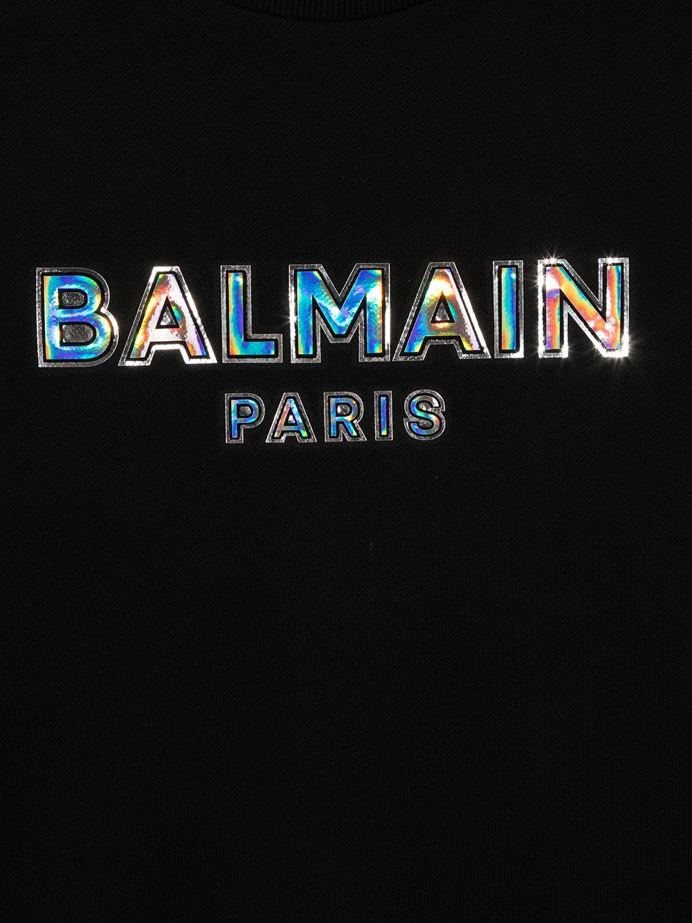 felpa con logo arilievo Balmain   Felpa   6N4580NX300930CET