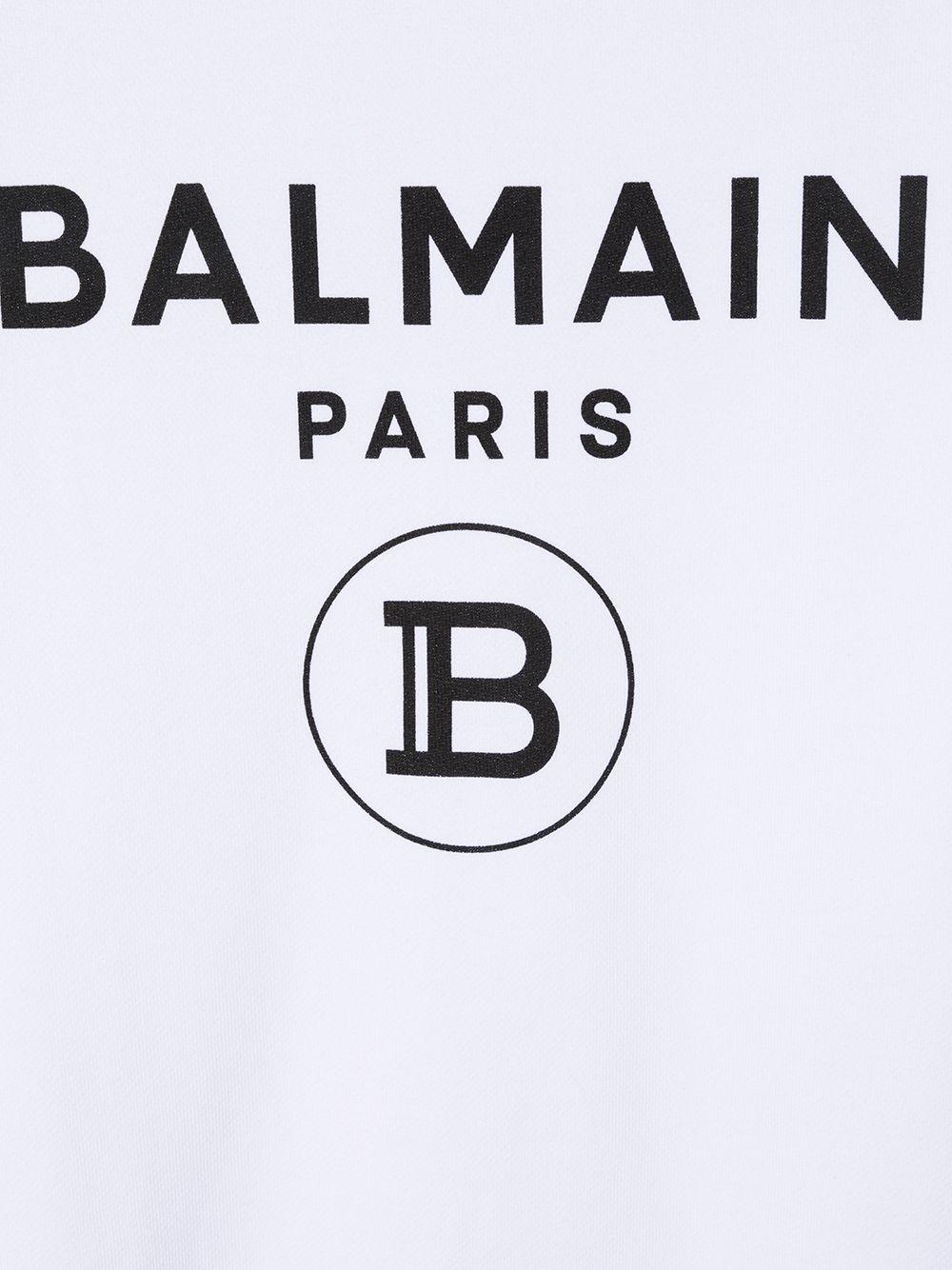 felpa con stampa scritta logo balmain Balmain | Felpa | 6N4670NX300100NET