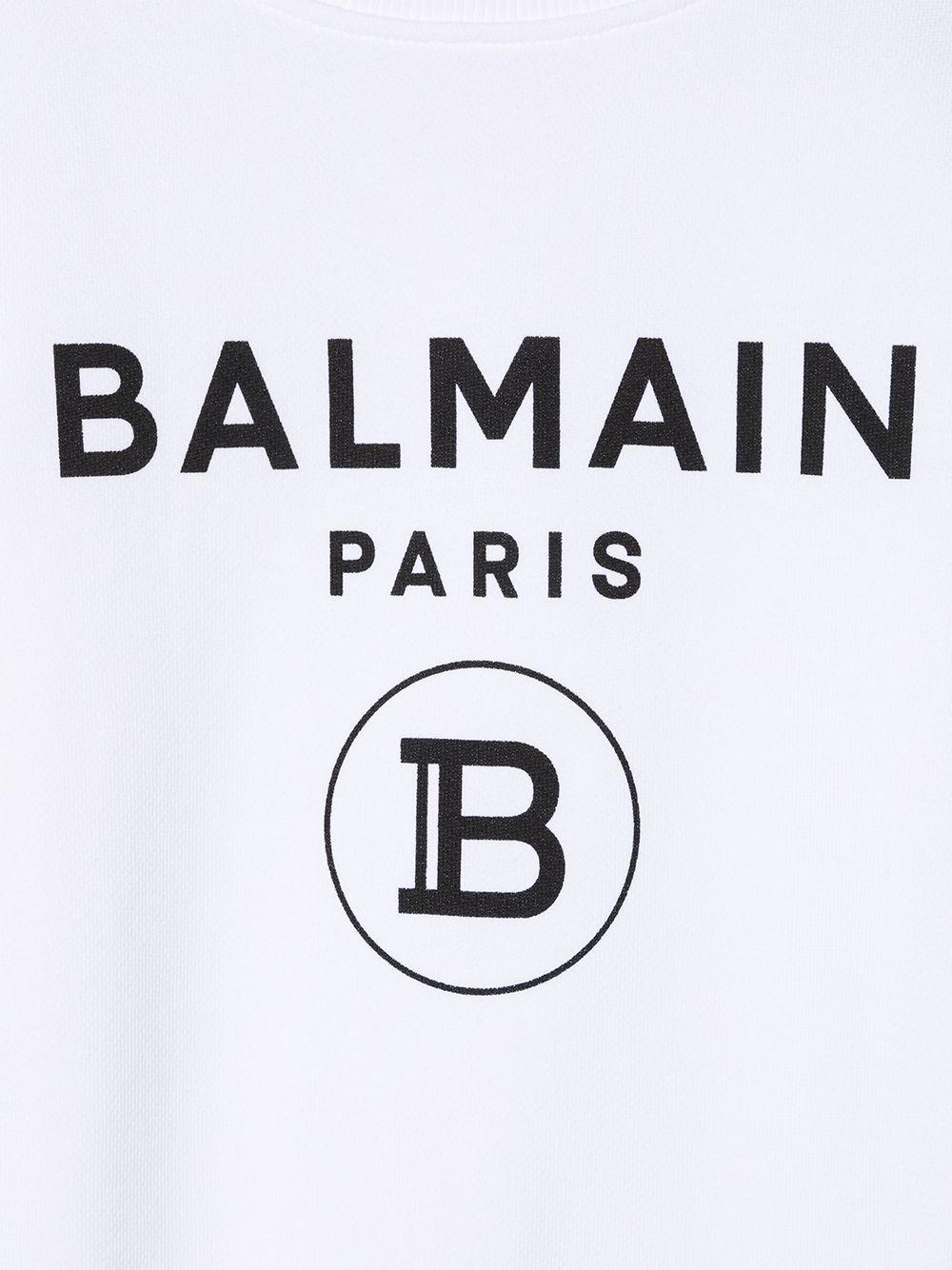 felpa con stampa scritta logo balmain Balmain | Felpa | 6N4670NX300100NE