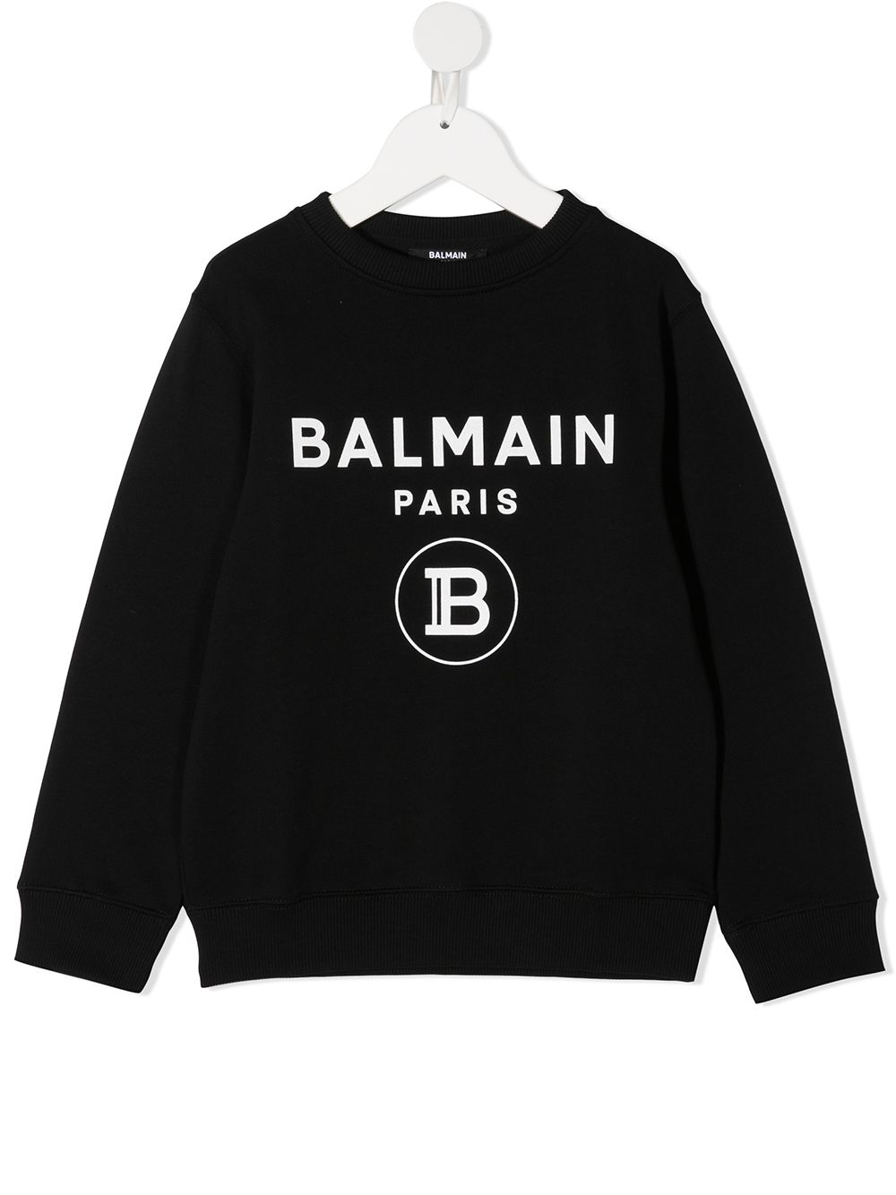 felpa con stampa scritta logo balmain Balmain | Felpa | 6N4670NX300930BC
