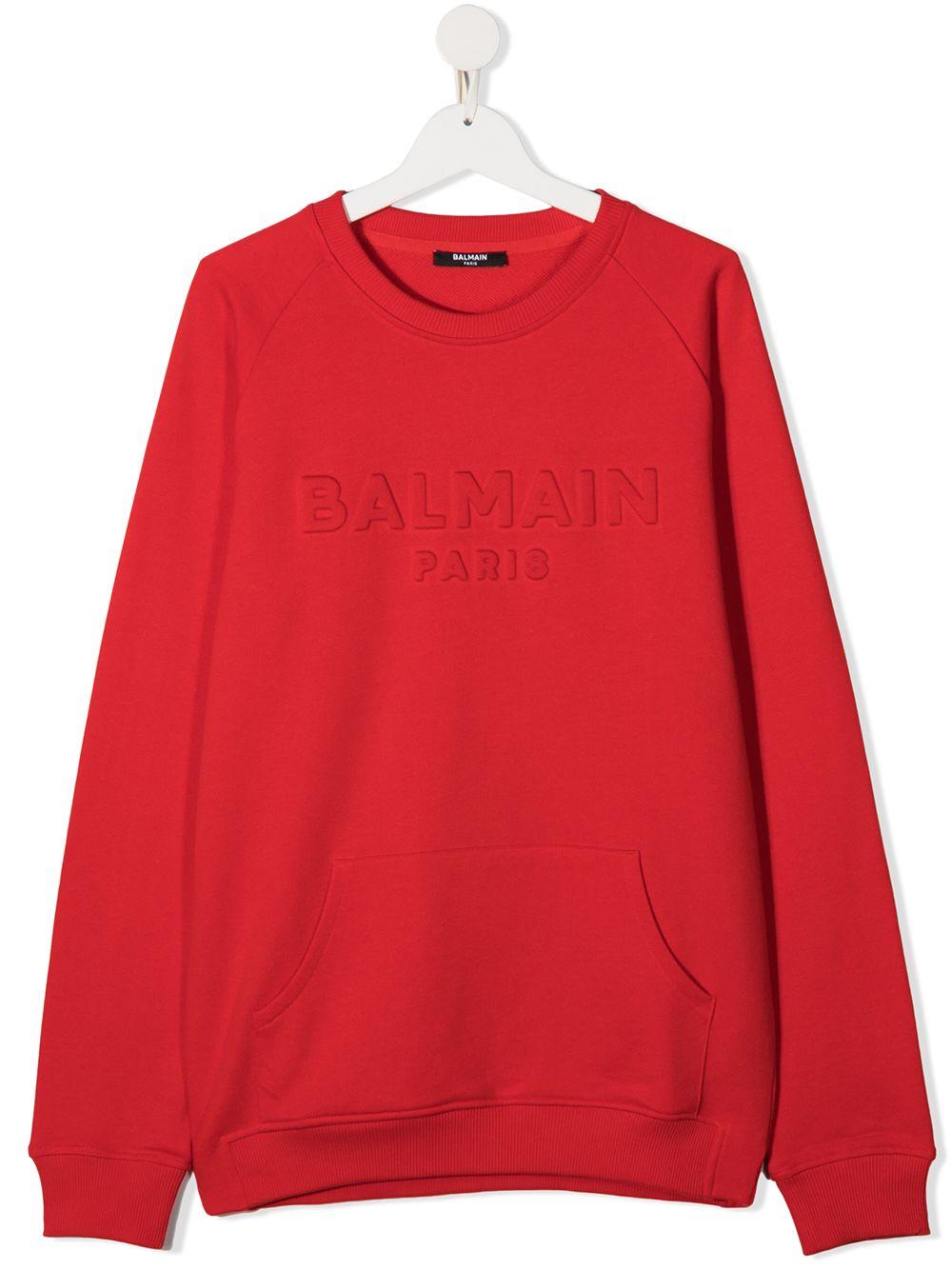felpa balmain con logo in tinta Balmain | Felpa | 6N4700NX300412T