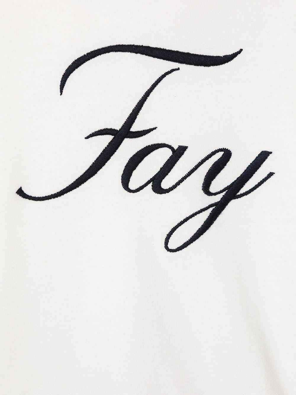 felpa cappuccio fay con scritta logo ricamato FAY | Felpa | 5N4030NX040101
