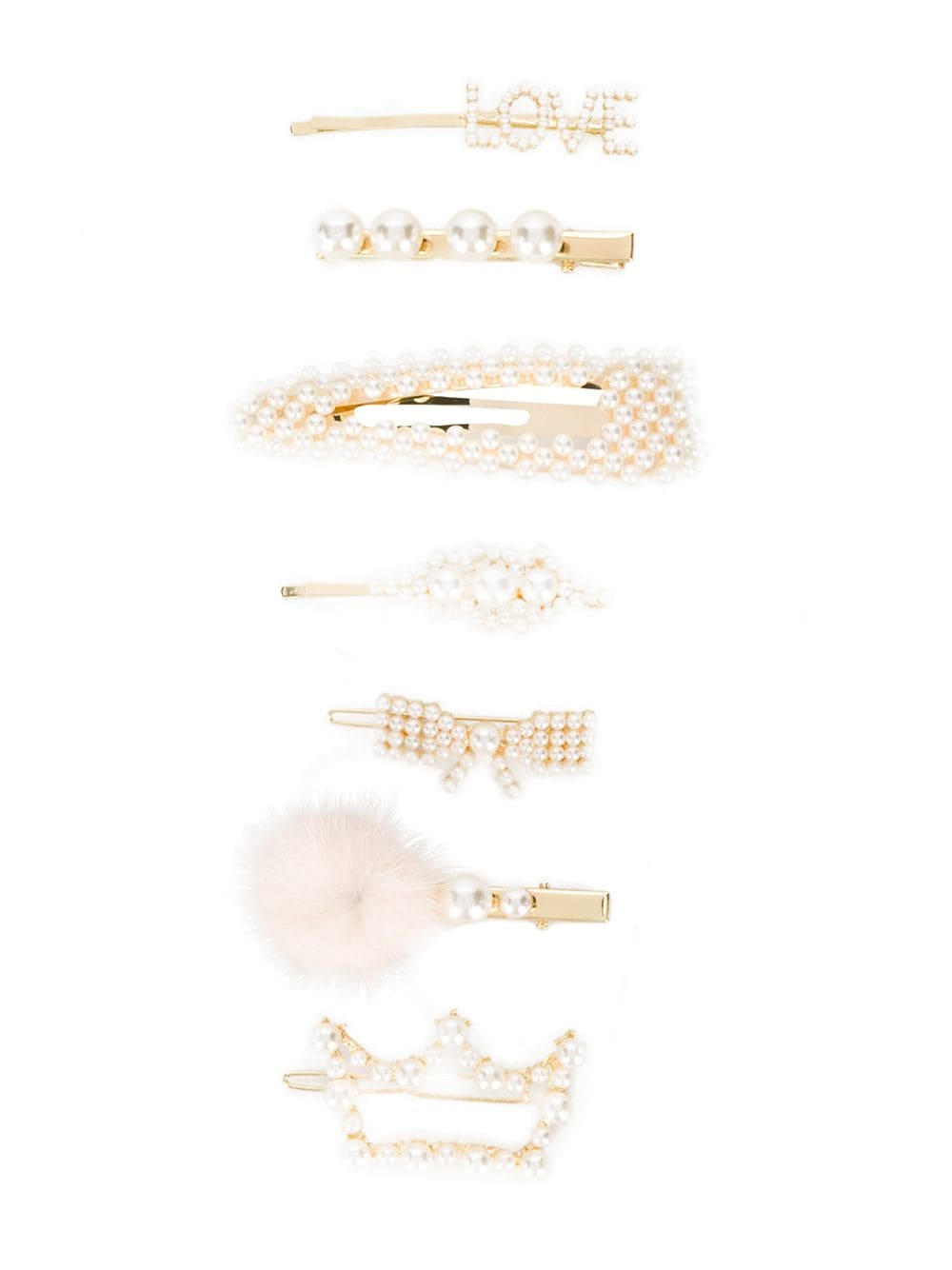 set fermagli con applicazioni MONNALISA CHIC | accessori capelli | 79600360970001