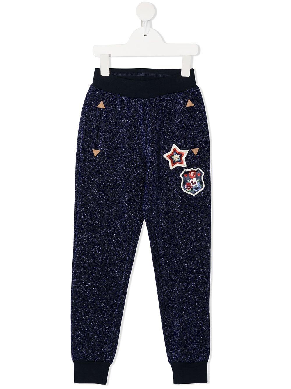 pantaloni in felpa con patch MONNALISA | Pantaloni | 196417AH60020056
