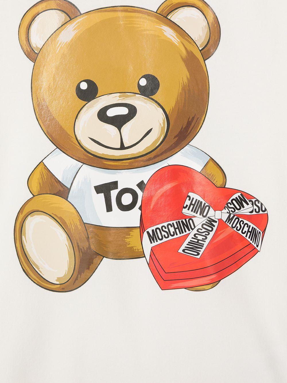 felpa Moschino con orsetto cuore MOSCHINO KIDS | Felpa | HDF02MLDA1610063T