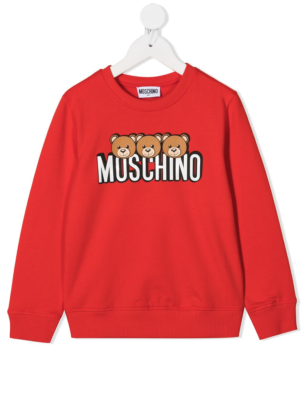 felpa Moschino con orsetti e scritta logo MOSCHINO KIDS | Felpa | HSF039LDA2650109