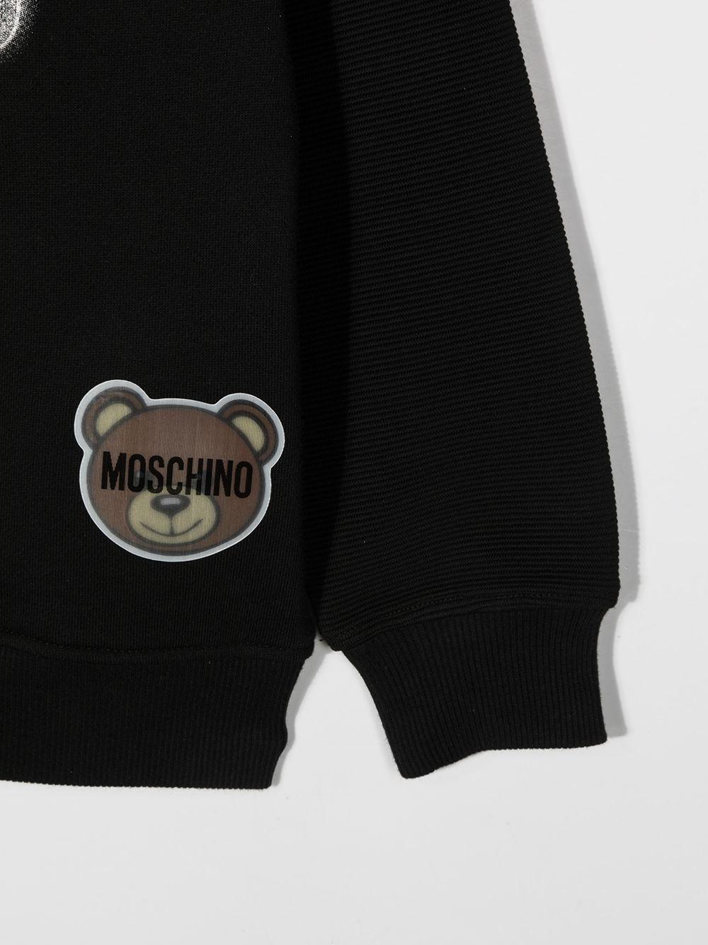 felpa Moschino con scritta logo e orsetto MOSCHINO KIDS | Felpa | HUF041LCA2060100