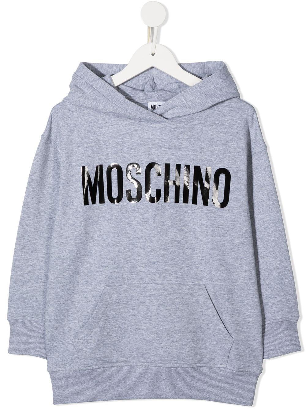 maxi felpa Moschino con scritta logo MOSCHINO KIDS | Felpa | HUF046LDA1660901