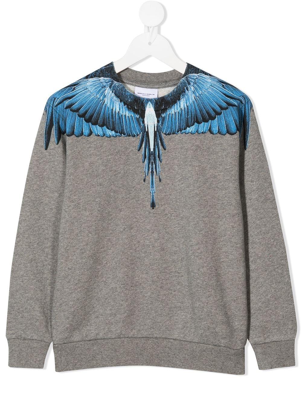 felpa Marcelo Burlon Blue Wings Marcelo burlon | Felpa | MB20080020B050
