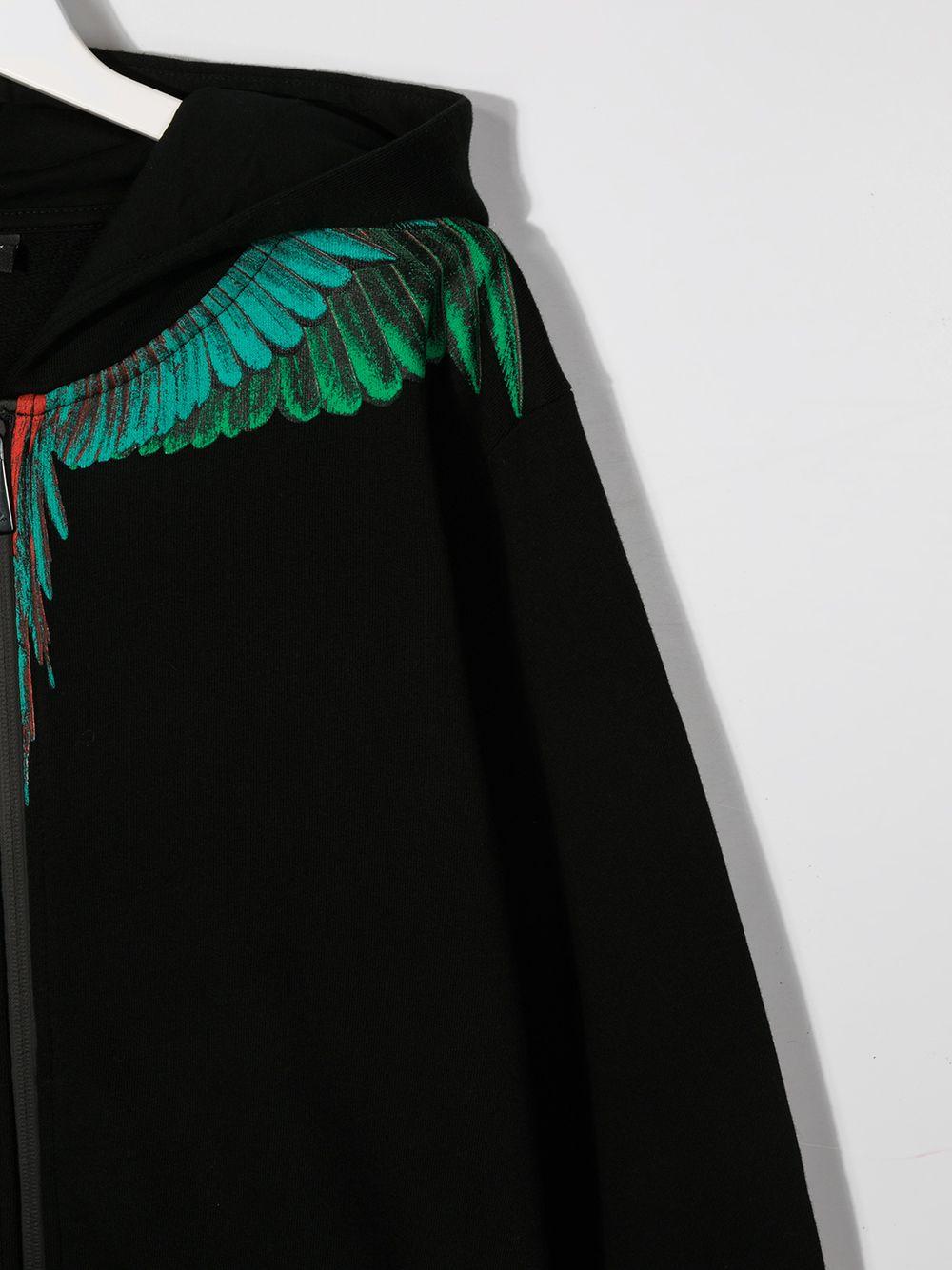 felpa cappuccio Marcelo Burlon Green Wings Marcelo burlon | Felpa | MB22040020B010T