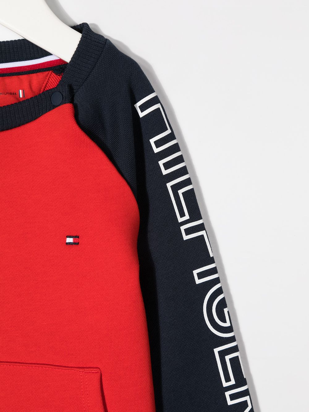 felpa bicolore tommy hilfiger con scritta logo TOMMY HILFIGER | Felpa | KN0KN01191C87