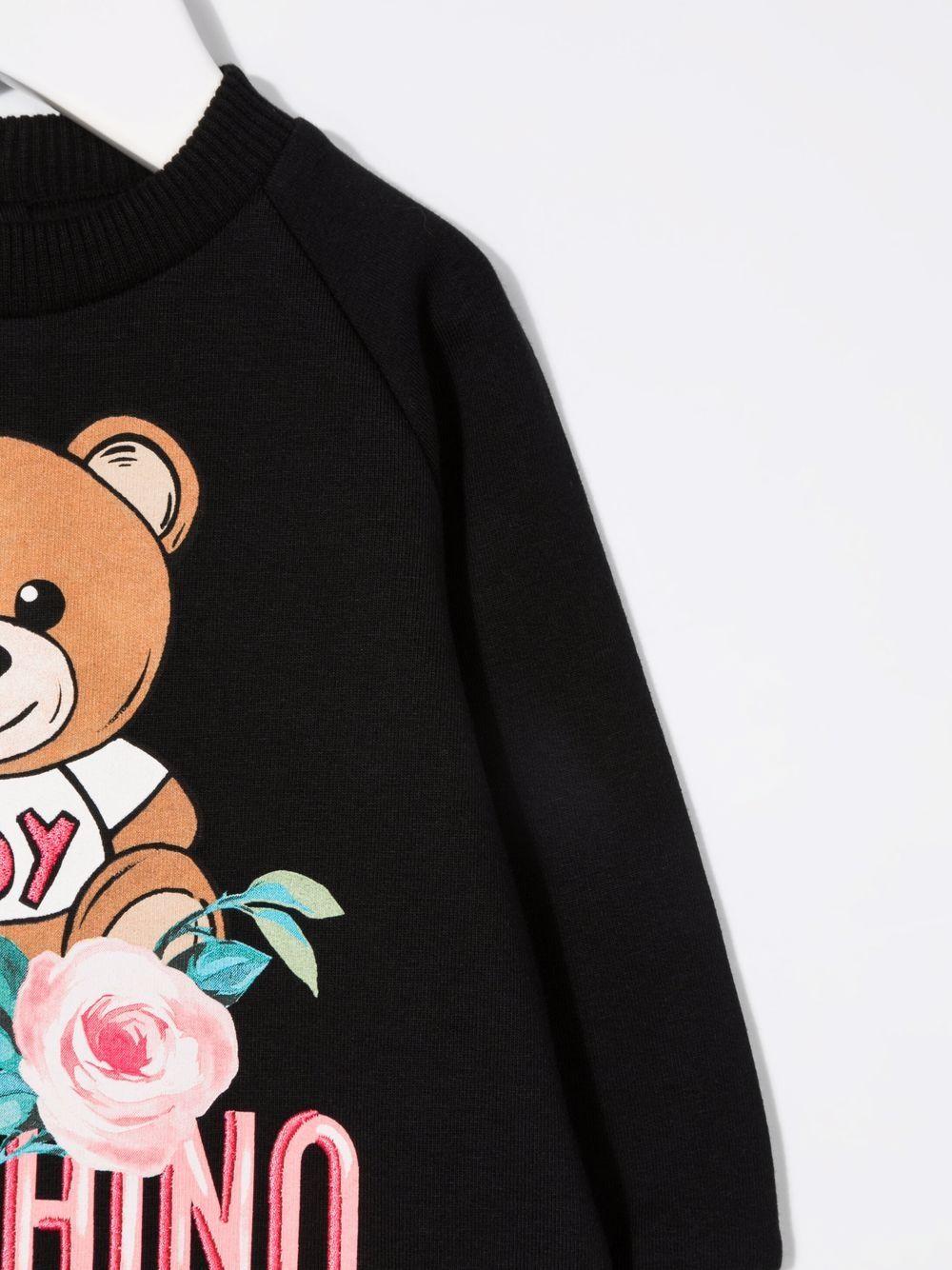 moschino abito stampa orsetto fiori MOSCHINO BABY | Abito | MCV07MLDA1660100
