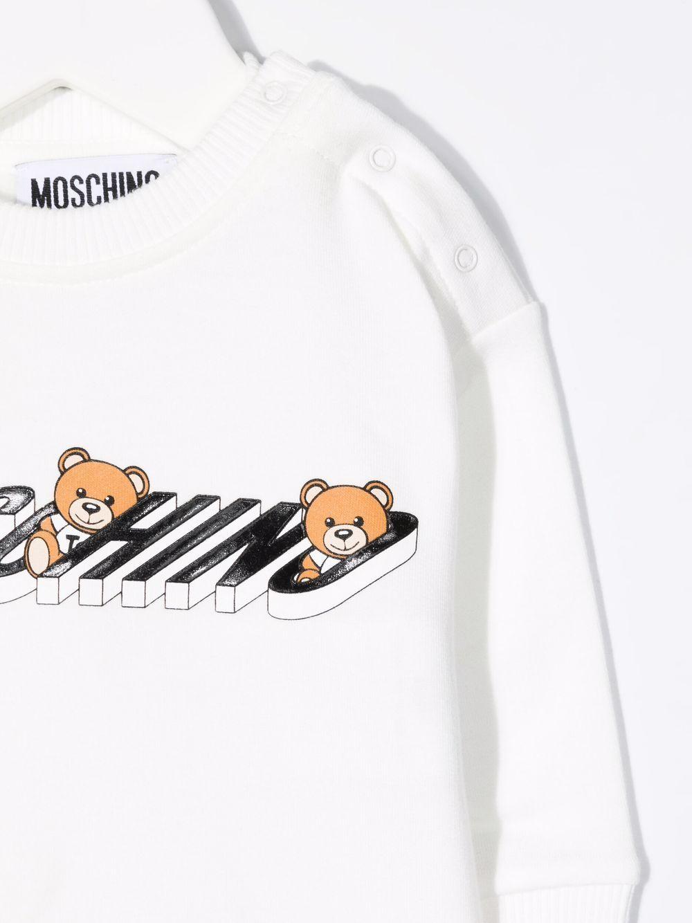 moschino felpa con stampa orsetti MOSCHINO BABY | Felpa | MUF03NLDA1810063
