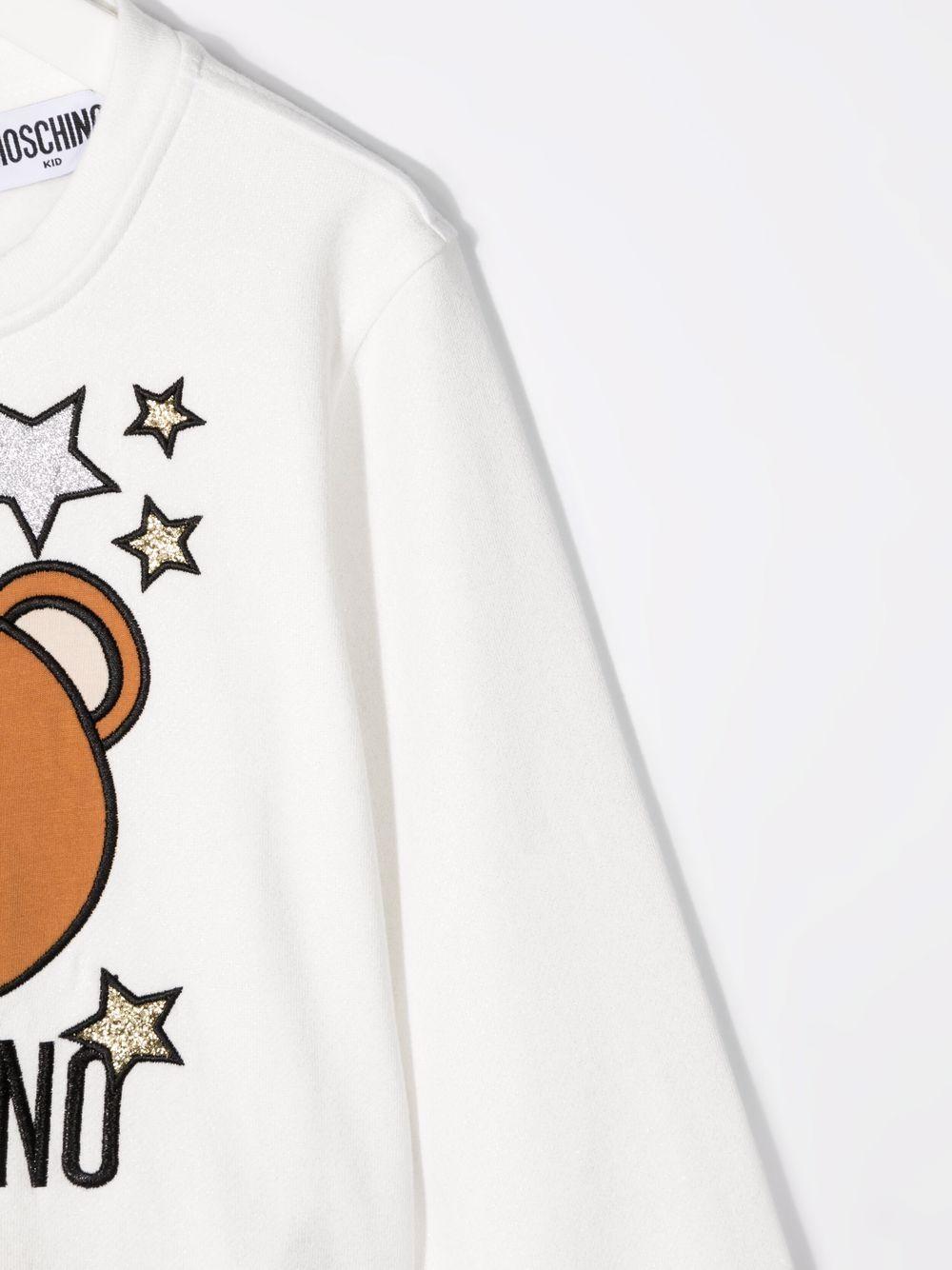 moschino felpa con stampa orso e stelle MOSCHINO KIDS | Felpa | HDF03CLCA2510063
