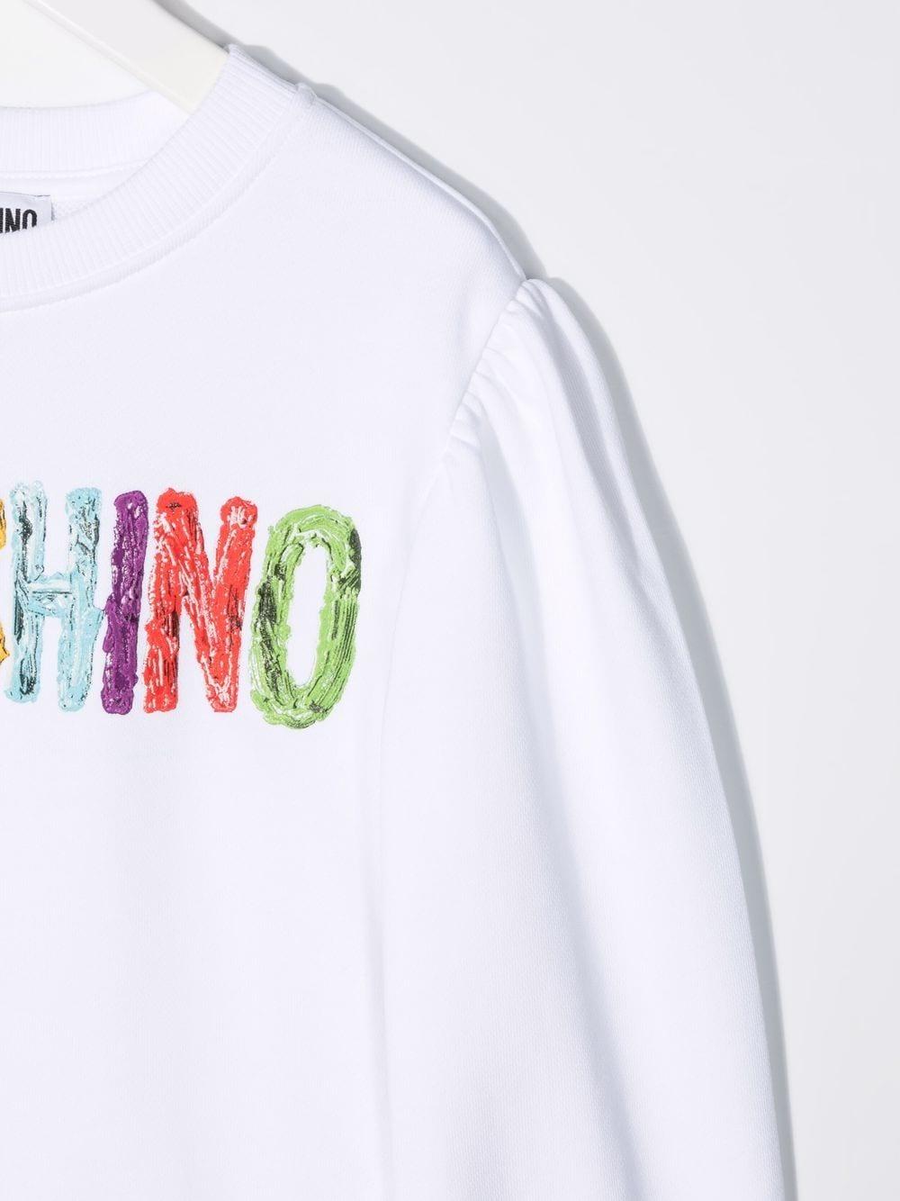 moschino kid felpa con scritta logo multicolor MOSCHINO KIDS | Felpa | HDF03JLCA2310101