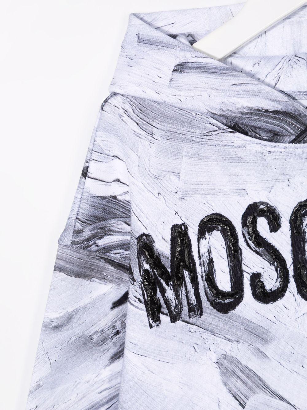 moschino kid felpa con cappuccio con scritta logo MOSCHINO KIDS   Felpa   HUF05CLCA2310101