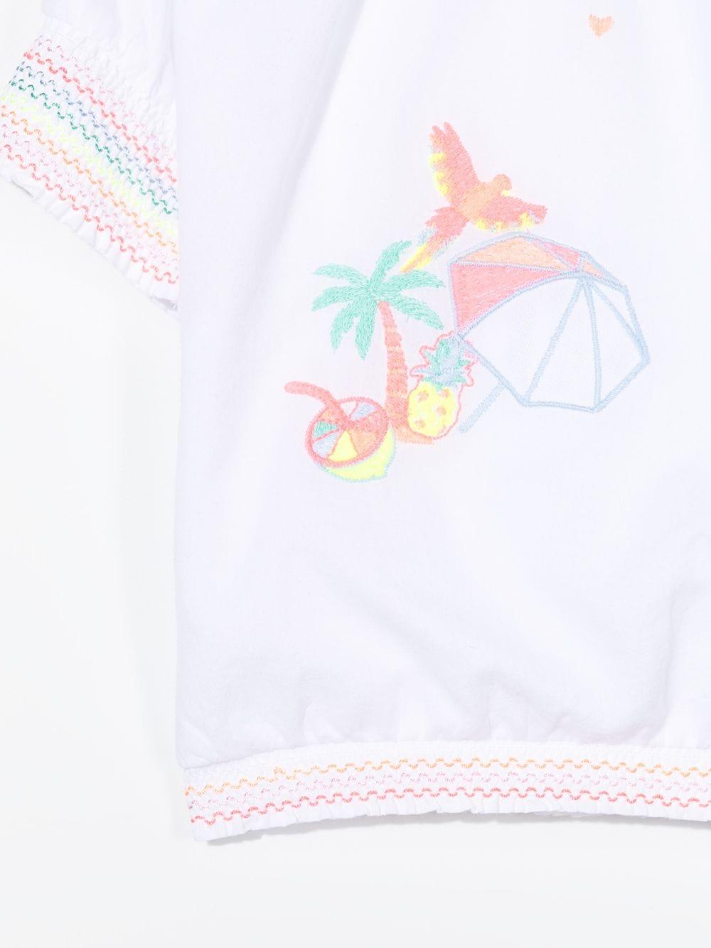 blusa con ricamo e con orli multicolor stellabillieblush Billieblush | Blusa | U1586310B