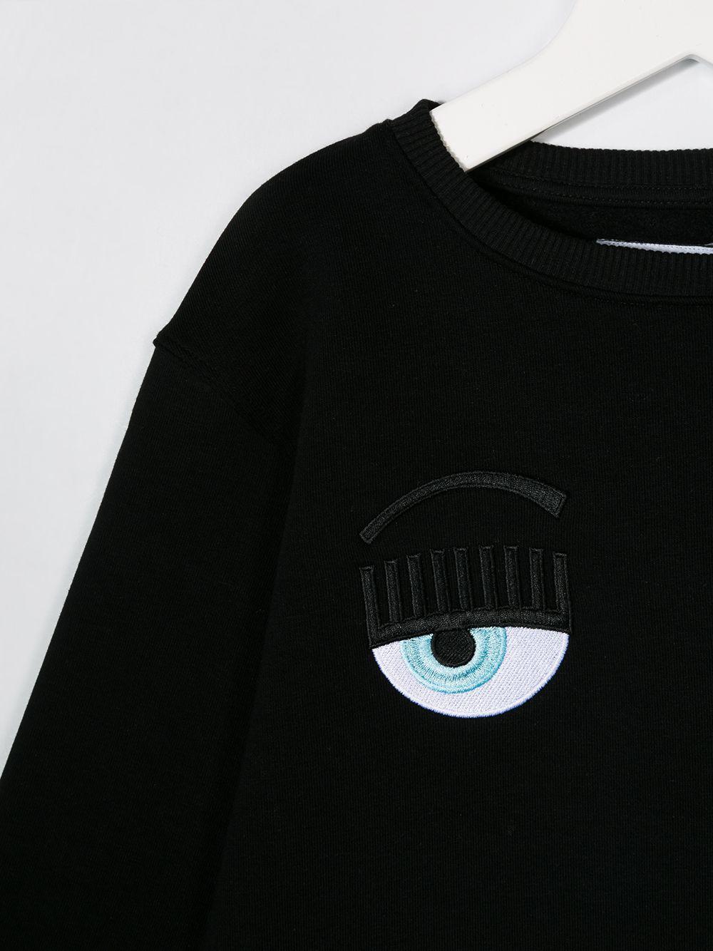chiara ferragni felpa con occhi logo CHIARA FERRAGNI | Felpa | CFKF014BLK