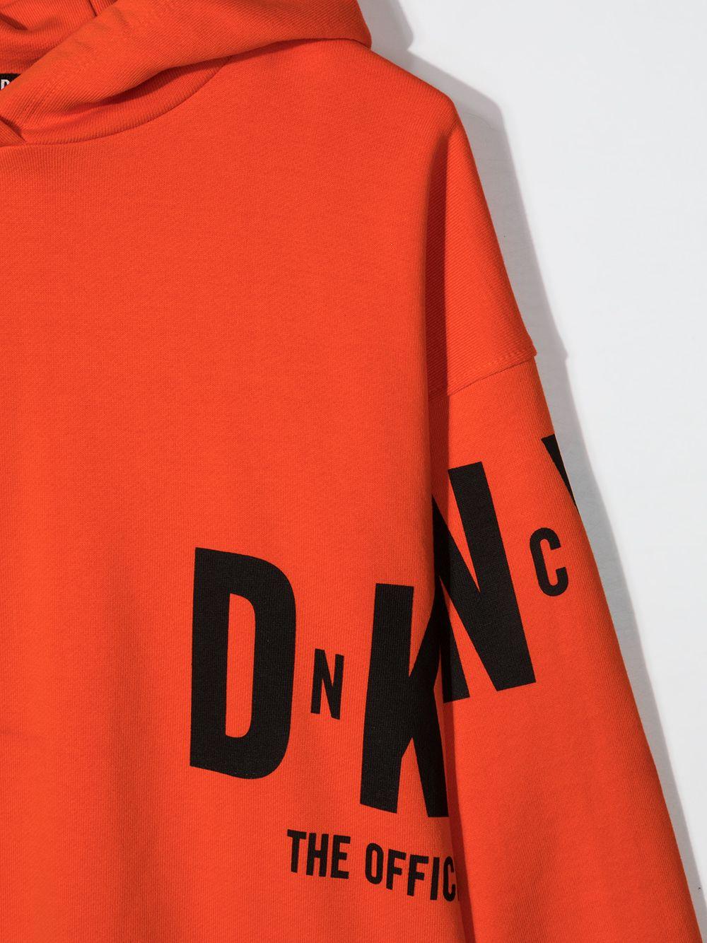 dkny felpa con cappuccio con stampa scritta  logo DKNY | Felpa | D25D46982