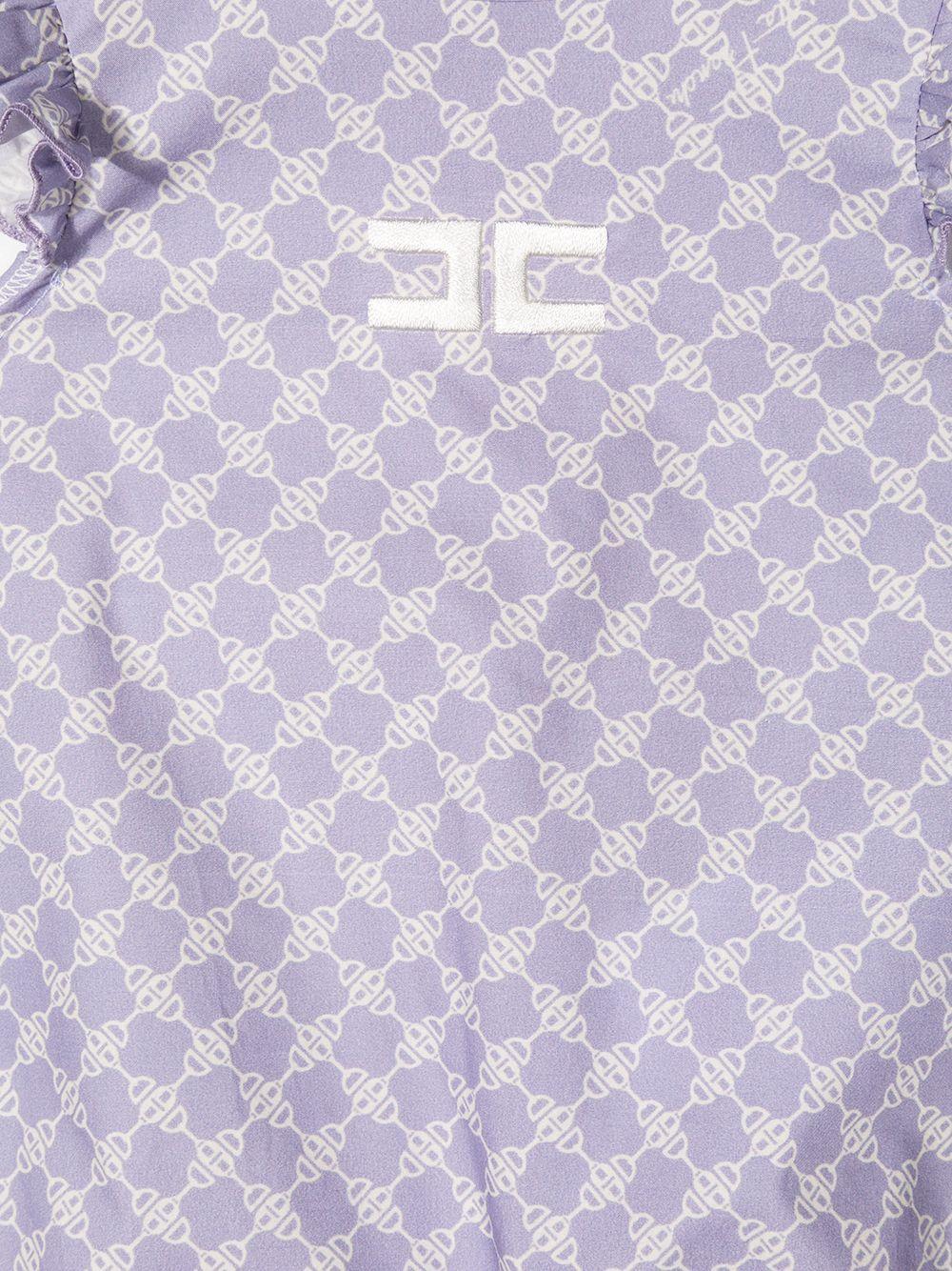 elisabbetta franchi pagliaccetto con maniche volant in popeline stampa morsetto ELISABETTA FRANCHI | Pagliaccetto | ENPG18CF495WE033D023