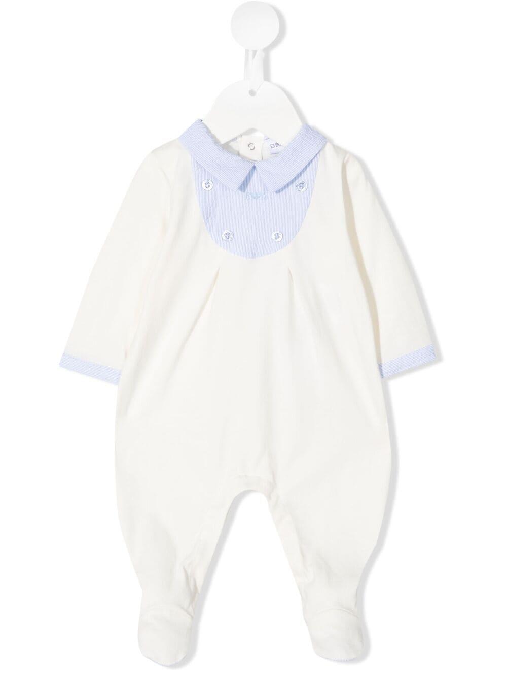 emporio armani tutina in jersey con inserto in lino EMPORIO ARMANI KIDS | Tutina | 3KHD914N54ZF703