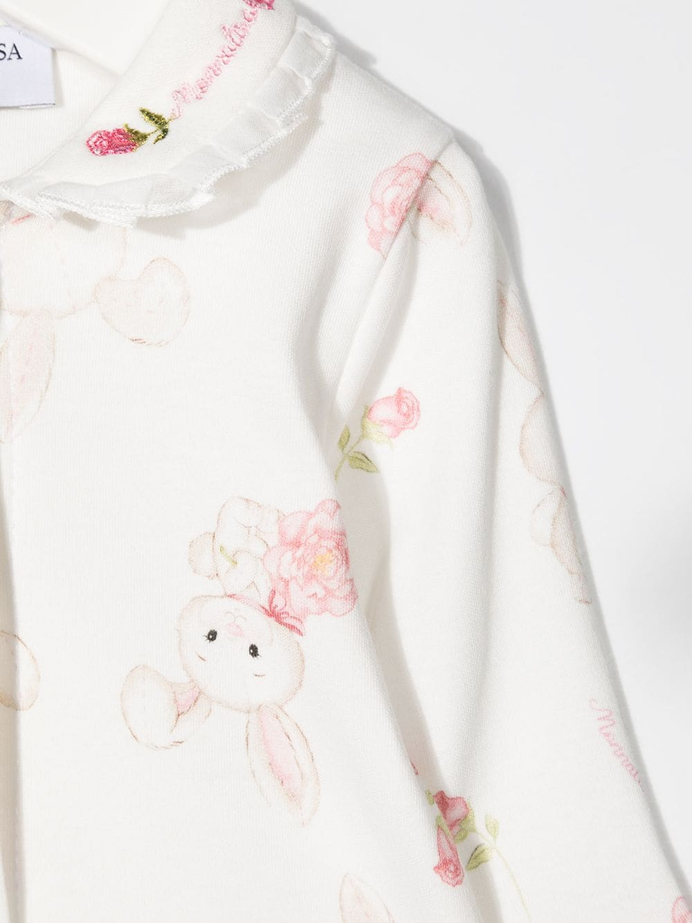 tutina monnalisaromantic rose  in cotone interlock con stampa bocciolini MONNALISA BEBE | Tutina | 35720070090190