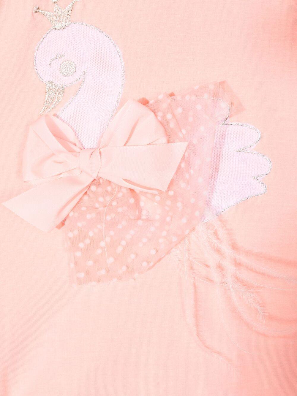 miss blumarine pagliaccetto con cigno e  tulle Miss Blumarine | Pagliaccetto | MBL3382P