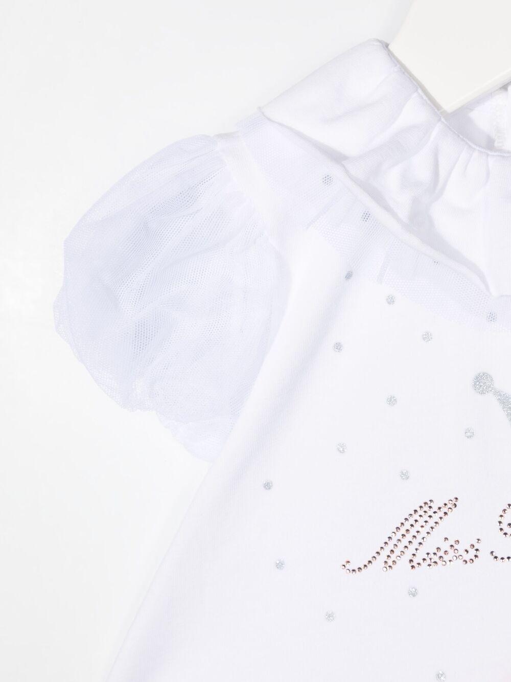 miss blumarine pagliaccetto con tulle Miss Blumarine | Pagliaccetto | MBL3671BI