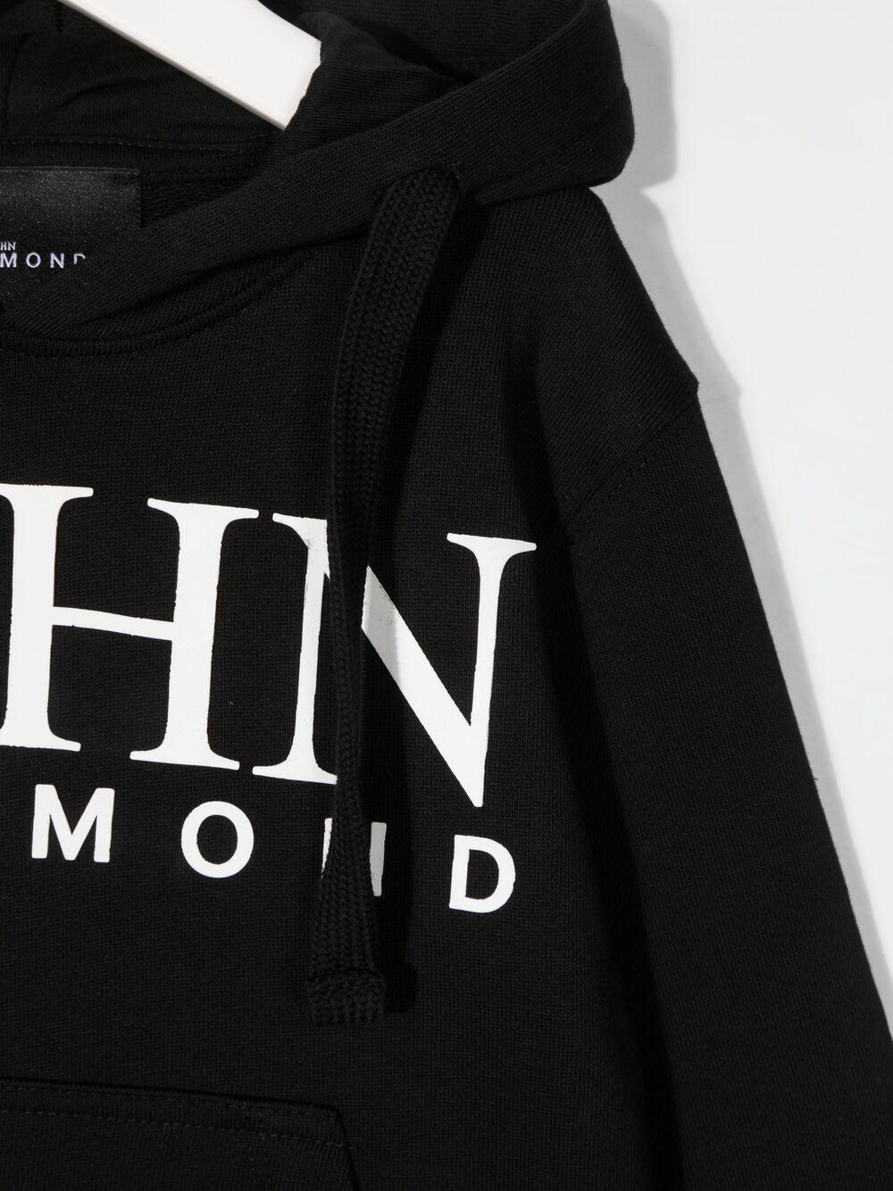 john richmond felpa cappuccio con stampa logo john richmond | Felpa | RBP21048FEW3079