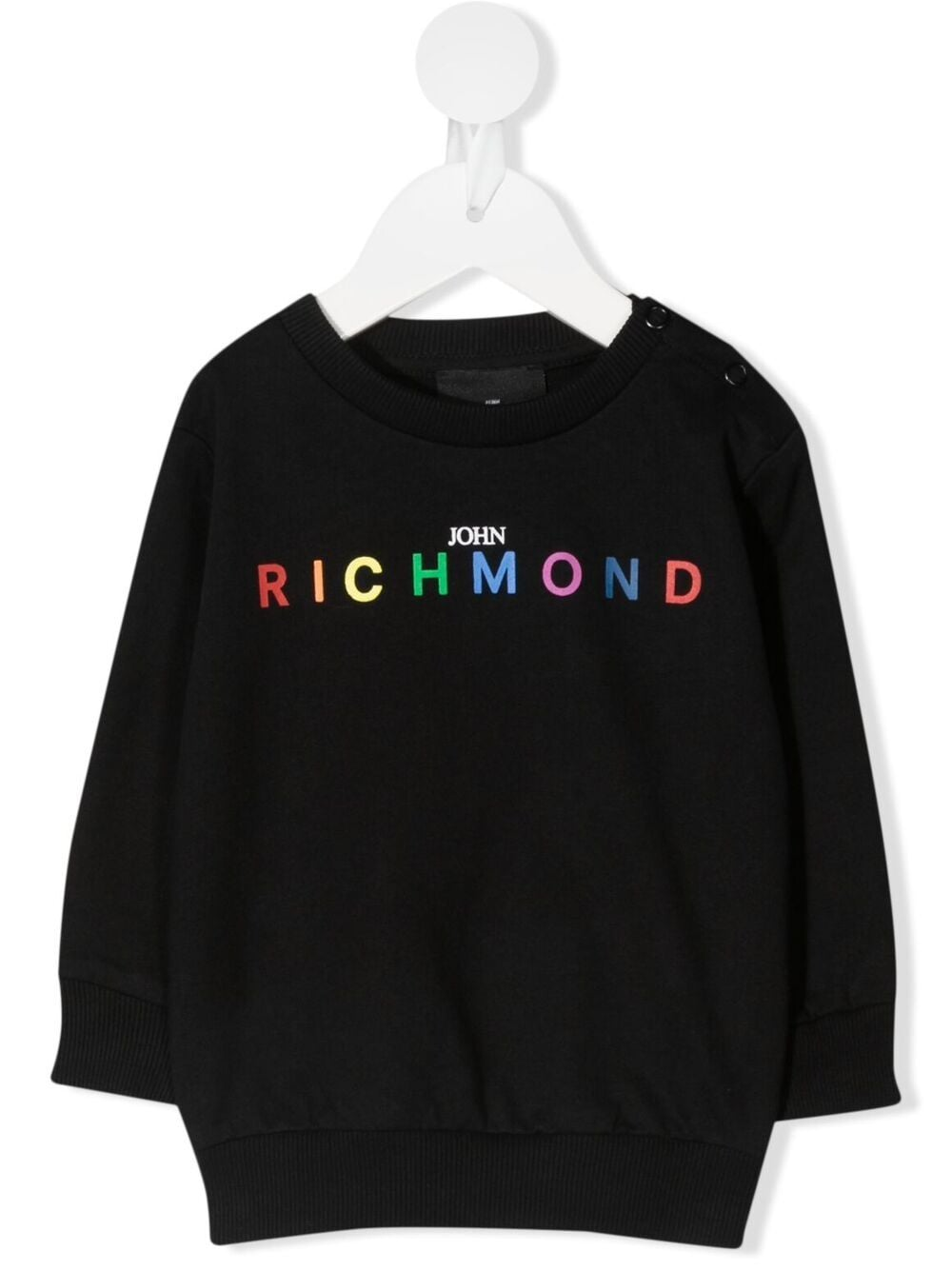 john richmond felpa con scritta logo multicolor john richmond | Felpa | RIP21059FEW0148