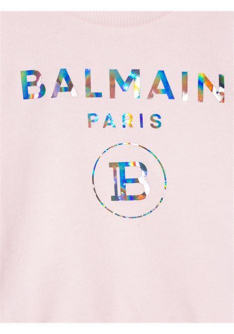 felpa con logo laminato Balmain | Felpa | 6N4300NX300515