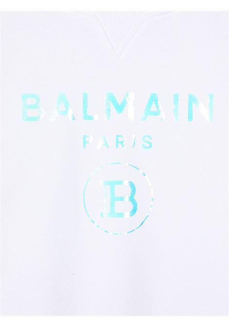 felpa con logo laminato Balmain | Felpa | 6N4530NX280100
