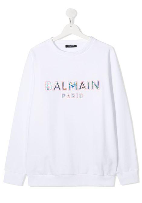 con logo a rilievo Balmain | Felpa | 6N4580NX300100RST