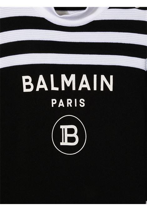 dolcevita bicolore  balmain con bottoni laterale Balmain | Maglia | 6N9060NA820930BCT