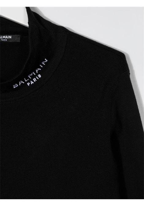 dolcevita balmain con scritta logo Balmain | Maglia | 6N9570NF280930T